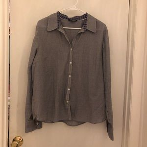 Woman's George long sleeve button down shirt XL
